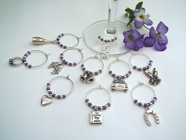 Wedding Wine Glass Charms